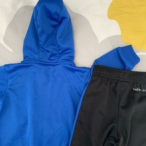 Nike sweatsuit 12 month blue and black